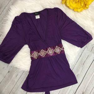 Sky NWT Purple Wrap Dress